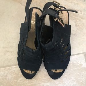 Vince  Camuto Blue Suede funky heels